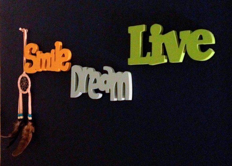 That same bedroom wall, present day. Photo courtesy of my mom.