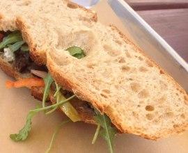 Roasted portobello sandwich | Photo by Courtney Cheng