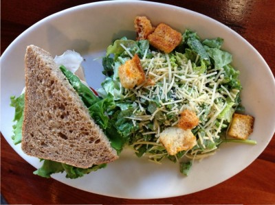 Half salad, half sandwich combo | Photo Courtesy of Ingrid H. from Yelp