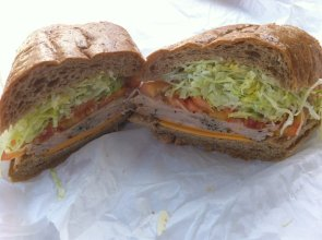 Cracked Pepper Turkey Sandwich with the Works | Photo Courtesy of Nayiri K. from Yelp